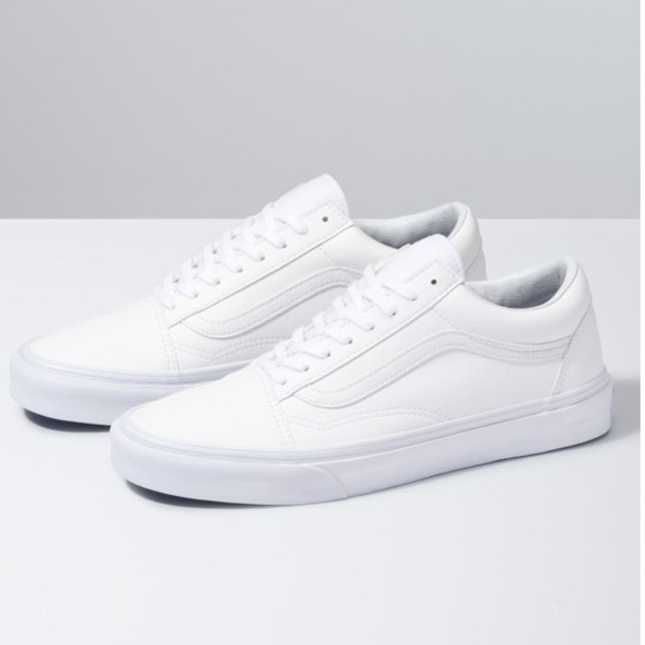 white leather vans sale